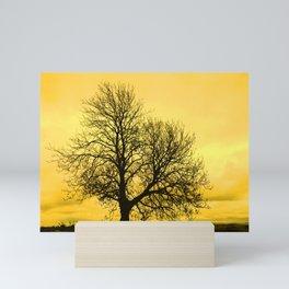 A glow over Sheriff Hutton Mini Art Print