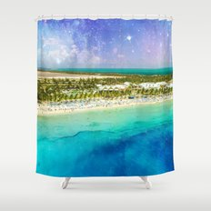 Cosmic Tropics Shower Curtain