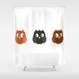 Owly Potter Shower Curtain