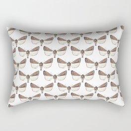 Brown Moths Rectangular Pillow