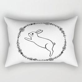Hopping bunny Rectangular Pillow