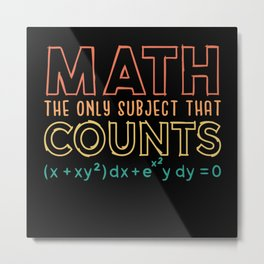 Pi Day Shirt Math the only subject that counts Metal Print