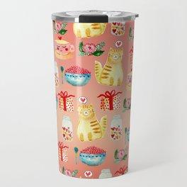 Watercolor Love doodles Travel Mug