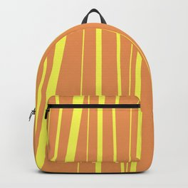 Orange And Yellow Stripes - Abstract Sunshine Backpack