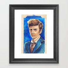 David Tennant 10th Doctor Who Framed Art Print