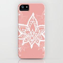 White Lotus Flower Print iPhone Case