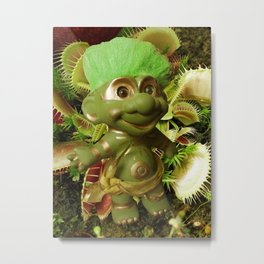 Green Troll Metal Print