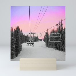 Ski Lift Sunset Shot on iPhone 4 Mini Art Print