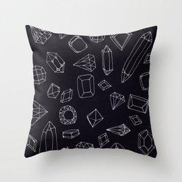 doodle crystals Throw Pillow