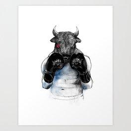 The Eye Of the Raging bull Art Print