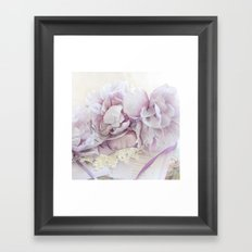 Dreamy Ethereal Lavender White Roses Print and Home Decor Framed Art Print