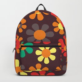 Hippy Flower Daisy Colorful Pattern Backpack