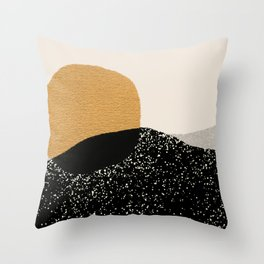 Gold Sun Going Throw Pillow