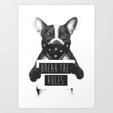 Rebel dog Art Print