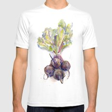 Purple Beets Mens Fitted Tee MEDIUM White