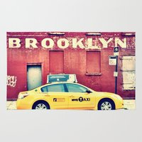 brooklyn Area & Throw Rugs featuring Brooklyn  by Pinkspoisons