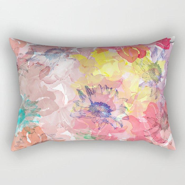 Flower carpet(32). Rectangular Pillow
