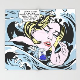 Drowning Alice Throw Blanket