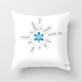 Infinite Medicine Throw Pillow
