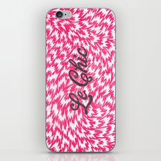 Neon Pink Chic Leopard Print Girly Zigzag Pattern iPhone & iPod Skin