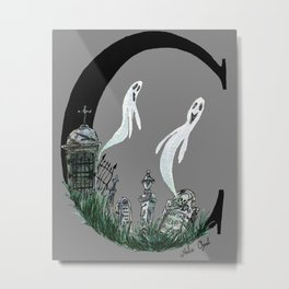 C is for Cemetery Metal Print