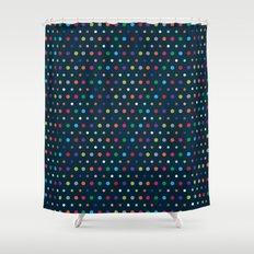 Color Polka Shower Curtain