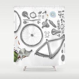 a bike's flatlay Shower Curtain