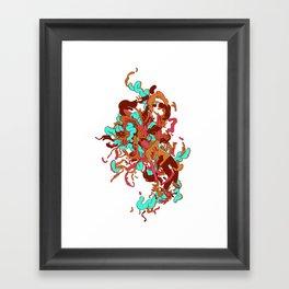 Headspace 03 - blue Framed Art Print