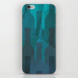 Blue wine iPhone Skin