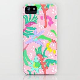 Australian Kangaroo Paw Floral in Pink iPhone Case