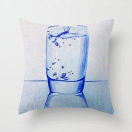 Water Glass Throw Pillow
