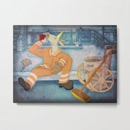Street Sweeper Unicorn Metal Print