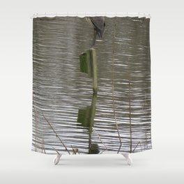 Blue Heron at John Heinz Shower Curtain