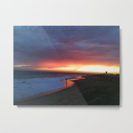 sunsetting Metal Print