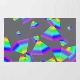 Floating Rainbow Pyramid Rug