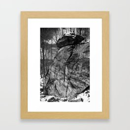 A view of the rocks Framed Art Print