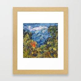 Landscape 2 Mountains Framed Art Print