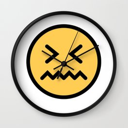 Smiley Face   Squeezing Look   Annoyed Face Wall Clock