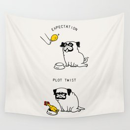 Expectation and Plot Twist Wall Tapestry