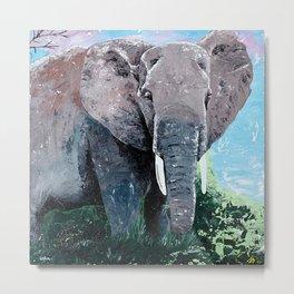 Animal - The big elephant - by LiliFlore Metal Print
