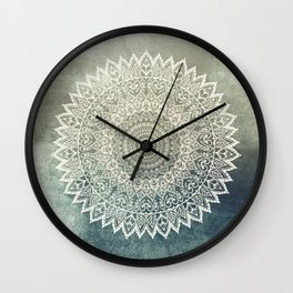 AUTUMN LEAVES MANDALA Wall Clock