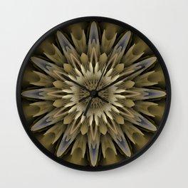 Waving 3D flower mandala Wall Clock