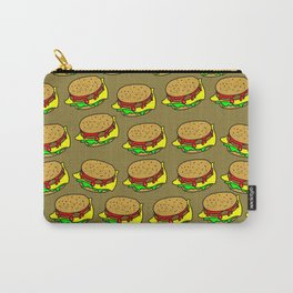 Cheeseburger Doodle Background Carry-All Pouch