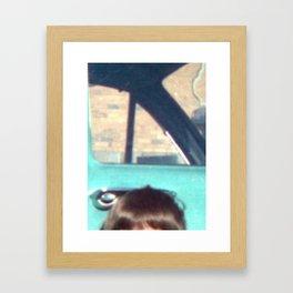 posing FRONT YARD Framed Art Print