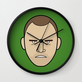 Faces of Breaking Bad: Jesse Pinkman (Angry) Wall Clock