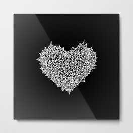 The Negative Heart of Thorns Metal Print