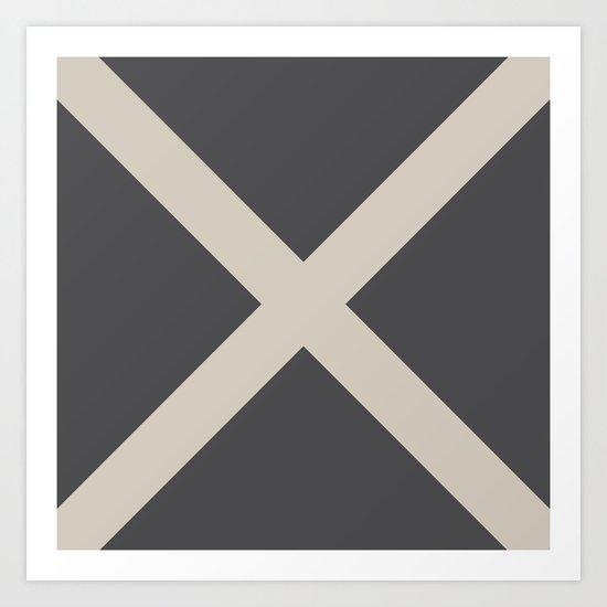 Nautical Flag - Letter M (Charcoal Black, Cream) by thingsthatsing