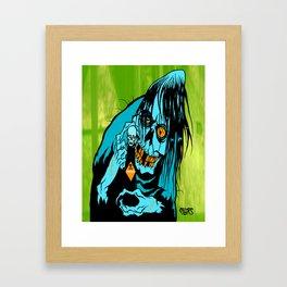 VILE FIEND Framed Art Print
