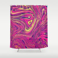 psychedelic Shower Curtains featuring Psychedelic by Idle Amusement