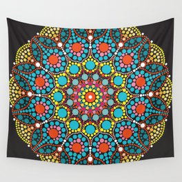 Dot mandala pattern Wall Tapestry